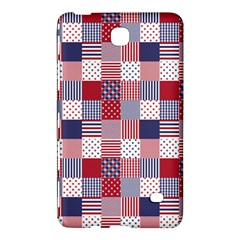 USA Americana Patchwork Red White & Blue Quilt Samsung Galaxy Tab 4 (7 ) Hardshell Case