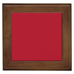 Usa Flag Red Blood Red Classic Solid Color  Framed Tiles
