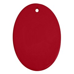 USA Flag Red Blood Red classic solid color  Oval Ornament (Two Sides)