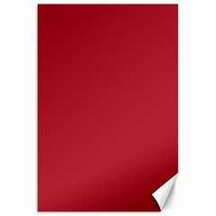 USA Flag Red Blood Red classic solid color  Canvas 20  x 30