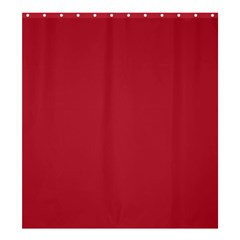 USA Flag Red Blood Red classic solid color  Shower Curtain 66  x 72  (Large)