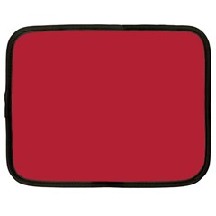USA Flag Red Blood Red classic solid color  Netbook Case (XXL)