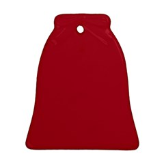 USA Flag Red Blood Red classic solid color  Bell Ornament (Two Sides)
