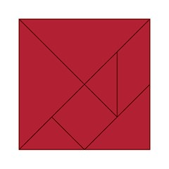 USA Flag Red Blood Red classic solid color  Acrylic Tangram Puzzle (6  x 6 )