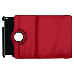 USA Flag Red Blood Red classic solid color  Apple iPad 2 Flip 360 Case