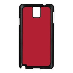 USA Flag Red Blood Red classic solid color  Samsung Galaxy Note 3 N9005 Case (Black)