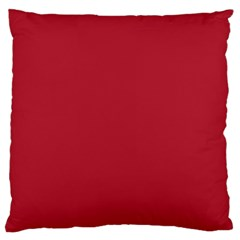 Usa Flag Red Blood Red Classic Solid Color  Large Flano Cushion Case (two Sides)