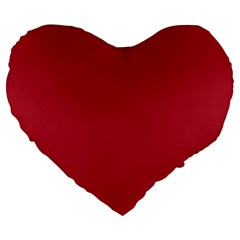 USA Flag Red Blood Red classic solid color  Large 19  Premium Flano Heart Shape Cushions