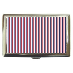 USA Flag Red and Flag Blue Narrow Thin Stripes  Cigarette Money Cases