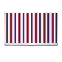 USA Flag Red and Flag Blue Narrow Thin Stripes  Business Card Holders