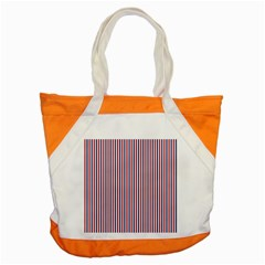 USA Flag Red and Flag Blue Narrow Thin Stripes  Accent Tote Bag