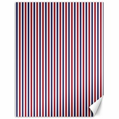 USA Flag Red and Flag Blue Narrow Thin Stripes  Canvas 12  x 16