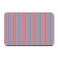 USA Flag Red and Flag Blue Narrow Thin Stripes  Small Doormat