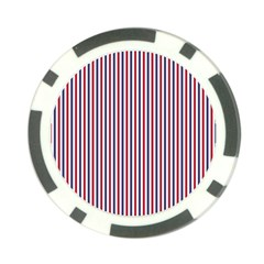 USA Flag Red and Flag Blue Narrow Thin Stripes  Poker Chip Card Guard