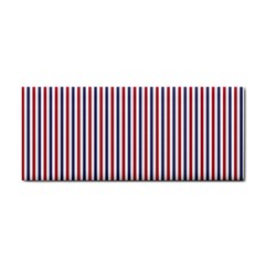 USA Flag Red and Flag Blue Narrow Thin Stripes  Cosmetic Storage Cases
