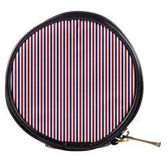 Usa Flag Red And Flag Blue Narrow Thin Stripes  Mini Makeup Bags