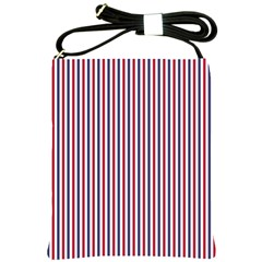 USA Flag Red and Flag Blue Narrow Thin Stripes  Shoulder Sling Bags