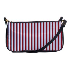 USA Flag Red and Flag Blue Narrow Thin Stripes  Shoulder Clutch Bags