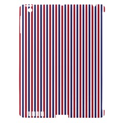 USA Flag Red and Flag Blue Narrow Thin Stripes  Apple iPad 3/4 Hardshell Case (Compatible with Smart Cover)