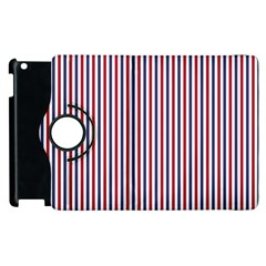 USA Flag Red and Flag Blue Narrow Thin Stripes  Apple iPad 3/4 Flip 360 Case