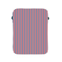 USA Flag Red and Flag Blue Narrow Thin Stripes  Apple iPad 2/3/4 Protective Soft Cases