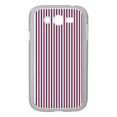 Usa Flag Red And Flag Blue Narrow Thin Stripes  Samsung Galaxy Grand Duos I9082 Case (white)