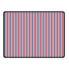 USA Flag Red and Flag Blue Narrow Thin Stripes  Double Sided Fleece Blanket (Small)