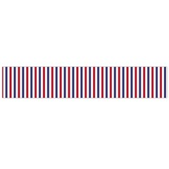 USA Flag Red and Flag Blue Narrow Thin Stripes  Flano Scarf (Large)