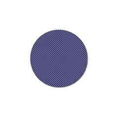 USA Flag White Stars on Flag Blue Golf Ball Marker (4 pack)