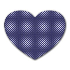 USA Flag White Stars on Flag Blue Heart Mousepads