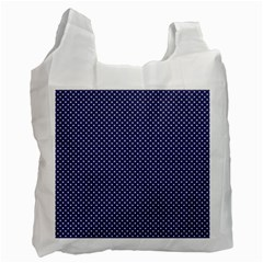 USA Flag White Stars on Flag Blue Recycle Bag (Two Side)