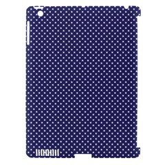 USA Flag White Stars on Flag Blue Apple iPad 3/4 Hardshell Case (Compatible with Smart Cover)