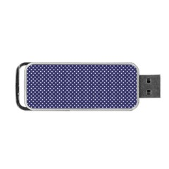USA Flag White Stars on Flag Blue Portable USB Flash (One Side)