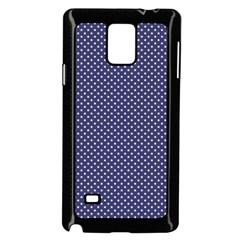 USA Flag White Stars on Flag Blue Samsung Galaxy Note 4 Case (Black)