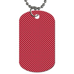 USA Flag White Stars on American Flag Red Dog Tag (Two Sides)
