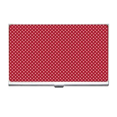 USA Flag White Stars on American Flag Red Business Card Holders