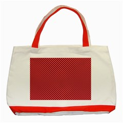 USA Flag White Stars on American Flag Red Classic Tote Bag (Red)