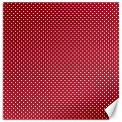 USA Flag White Stars on American Flag Red Canvas 12  x 12