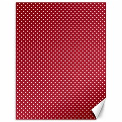 USA Flag White Stars on American Flag Red Canvas 12  x 16