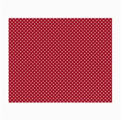 USA Flag White Stars on American Flag Red Small Glasses Cloth (2-Side)
