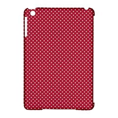 USA Flag White Stars on American Flag Red Apple iPad Mini Hardshell Case (Compatible with Smart Cover)