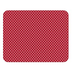 USA Flag White Stars on American Flag Red Double Sided Flano Blanket (Large)
