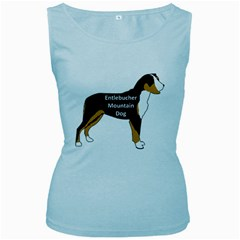 Entlebucher Mt Dog Name Silo Color Women s Baby Blue Tank Top