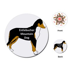 Entlebucher Mt Dog Name Silo Color Playing Cards (Round)