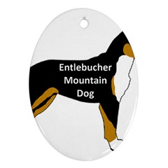 Entlebucher Mt Dog Name Silo Color Oval Ornament (Two Sides)