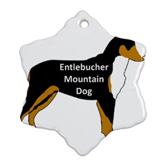 Entlebucher Mt Dog Name Silo Color Snowflake Ornament (Two Sides)