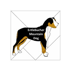 Entlebucher Mt Dog Name Silo Color Acrylic Tangram Puzzle (4  x 4 )