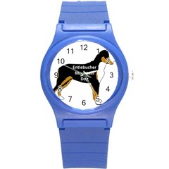 Entlebucher Mt Dog Name Silo Color Round Plastic Sport Watch (S)