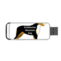 Entlebucher Mt Dog Name Silo Color Portable USB Flash (Two Sides)