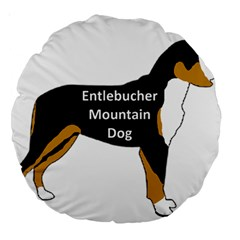 Entlebucher Mt Dog Name Silo Color Large 18  Premium Round Cushions